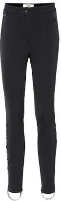 Fendi Logo stirrup skinny pants