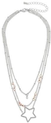 Capelli New York Layered Pendant Choker Necklace