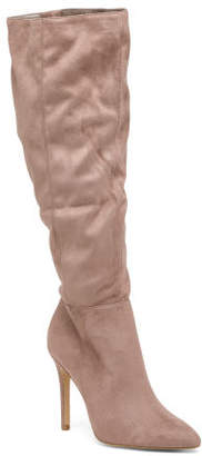 Pointed Toe Knee High Boots