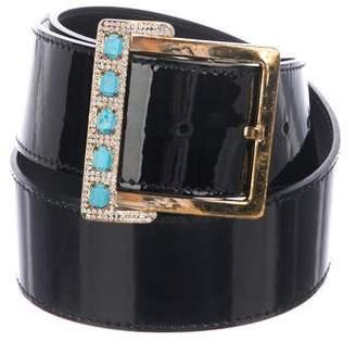 Valentino Patent Leather Embellished Belt
