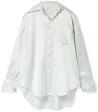 Matthew Adams Dolan - Oversized Silk-charmeuse Shirt - Mint