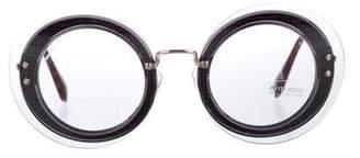 Miu Miu Gingham Tinted Sunglasses w/ Tags
