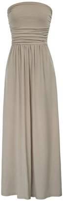GRACE KARIN Women's Elegant Maxi Long Dress Bandeau Dress Empire Waist Size L