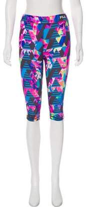 Fila Abstract Print Mid-Rise Legging