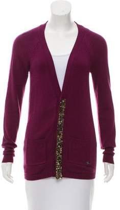 Burberry Embellished Knit Cardigan