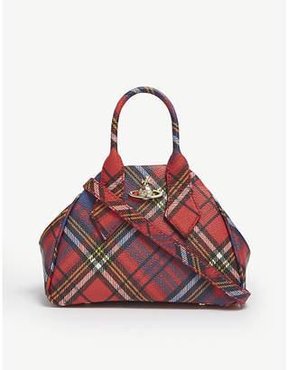 Vivienne Westwood Red and Blue Yasmine Derby Handbag