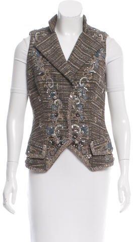 Carolina HerreraCarolina Herrera Tweed Vest