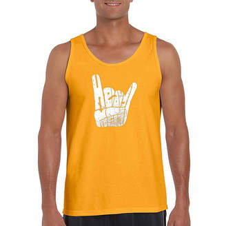 LOS ANGELES POP ART Los Angeles Pop Art Heavy Metal Word Art Tank Top- Men's Big and Tall