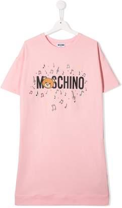 Moschino Kids TEEN logo print T-shirt dress