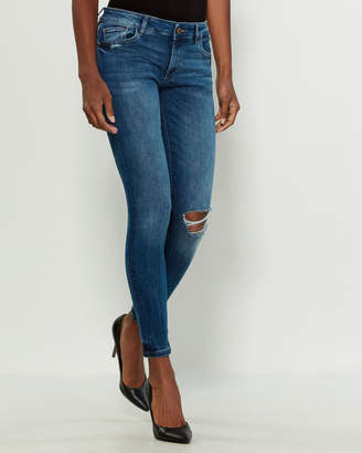 DL1961 Powell Emma Low-Rise Skinny Jeans