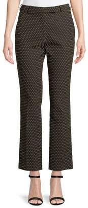 Etro Straight-Leg Textured Dobby Cropped Pants