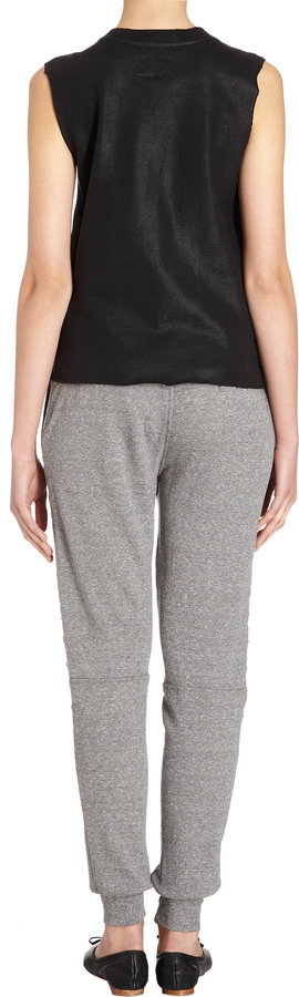 Current/Elliott The Moto Sweatpant - HEATHER GREY