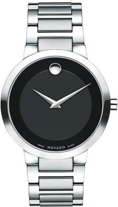 Movado 39.2mm Modern Classic Watch, Gray/Black