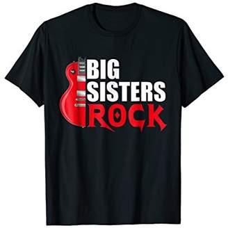 Big Sisters Rock T Shirt Funny Older Sister TShirt Gift
