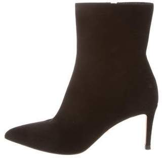 Gucci Suede Pointed-Toe Booties