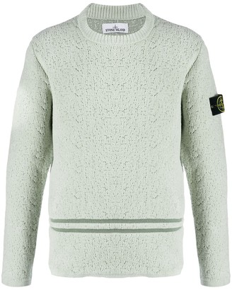 Stone Island logo patch knit jumper