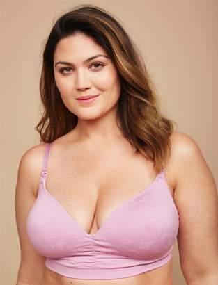 Jessica Simpson Motherhood Maternity Plus Size Seamless Clip Down Nursing Bra