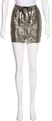 Elizabeth and James Metallic Mini Skirt
