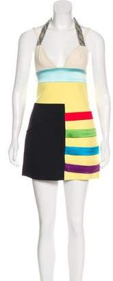 Fausto Puglisi Mini Colorblock Dress