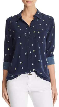 Rails Kate Cactus Print Silk Blouse