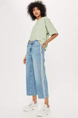 Topshop Petite Side Stripe Crop Jeans