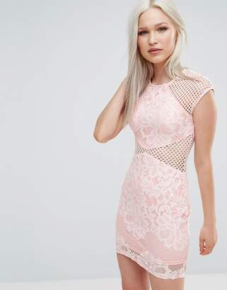 AX Paris Fishnet Insert Bodycon Dress