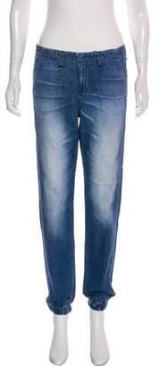 Rag & Bone Chambray Mid-Rise Skinny Jeans