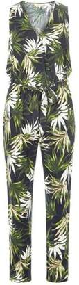 Dorothy Perkins Womens **Billie & Blossom Green Palm Print Jumpsuit