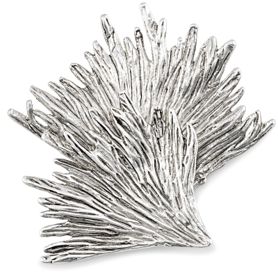 Silver Leaf Design Brooch