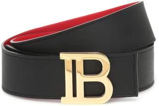 Balmain Reversible leather belt