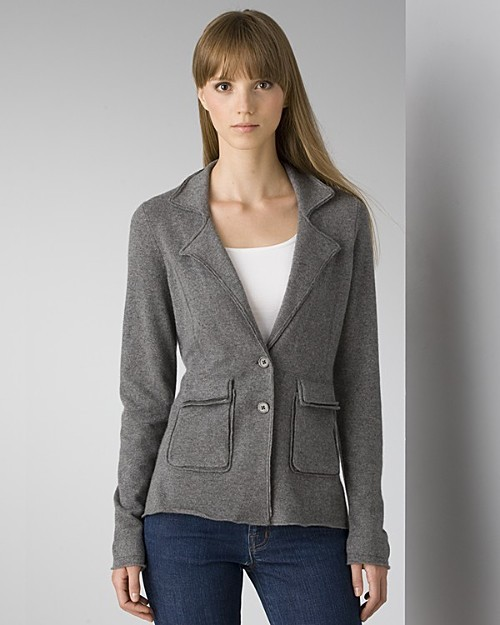 Aqua Women's Cashmere Knitted Blazer