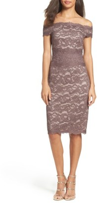 Women's Adrianna Papell Off The Shoulder Lace Dress $159 thestylecure.com