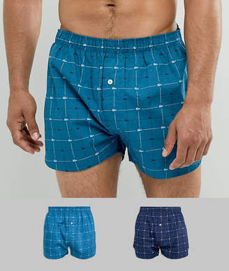 Lacoste Authetics Woven Boxers 2 Pack