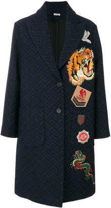 P.A.R.O.S.H. chevron pattern coat with patches