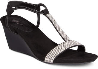 Style & Co Mulan 2 Embellished Evening Wedge Sandals, Created for Macy's Women's Shoes $44.98 thestylecure.com