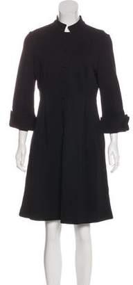 Diane von Furstenberg Wool Button-Up Dress