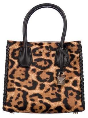 MICHAEL Michael Kors Leather-Trimmed Handle Bag Brown Leather-Trimmed Handle Bag