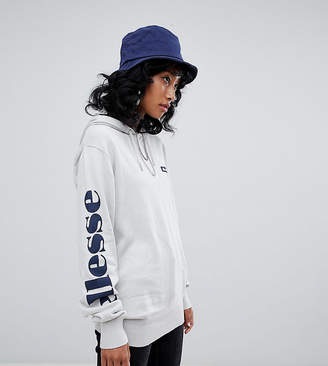 Ellesse Relaxed Hoodie With Arm Logo In Fine Knit