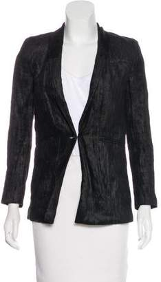 J Brand Shawl Collar Textured Blazer