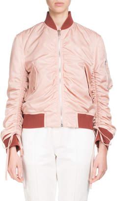 Kenzo Ruched Zip-Front Bomber Jacket