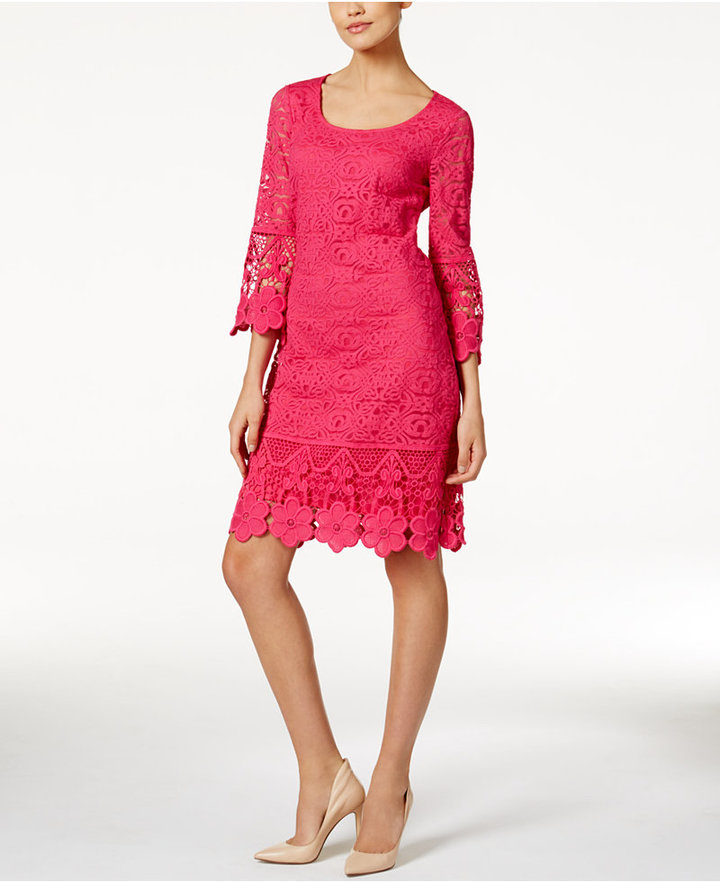 Alfani Crochet-Trim Illusion Dress, Only at Macy's 13