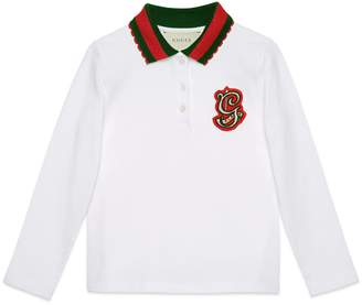 Gucci Children's cotton polo with G patch