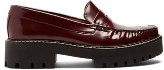 ALEXACHUNG Tread-sole leather penny loafers