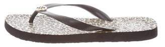 Tory Burch Round-Toe Thong Sandals
