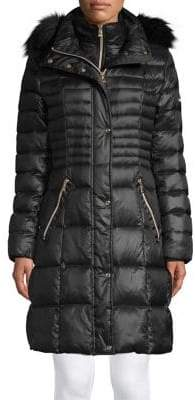 Karl Lagerfeld Paris Faux-Fur Puffer Jacket