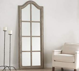Pottery Barn Bordeaux Gray Wash Floor Mirror