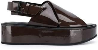Ann Demeulemeester Cross Verni platform sandals