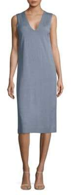 Lafayette 148 New York Sleeveless V-Neck Knee-Length Dress