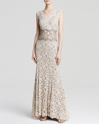 Tadashi Shoji Gown - Sleeveless V-Neck Lace $388 thestylecure.com