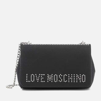 Love Moschino Women's Logo Chain Handle Cross Body - Black